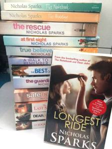 As you can see, I love Nicholas Sparks