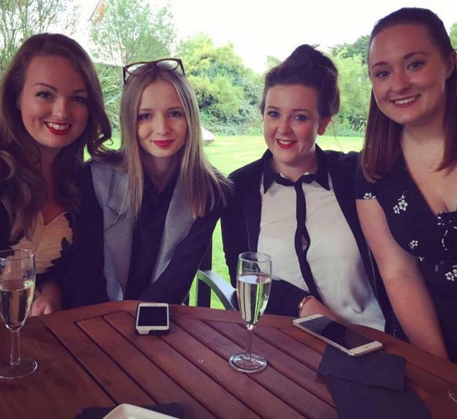 The lovely blogging girls - L-R: Brogan, Jess, Anna, me Photo credit Brogan