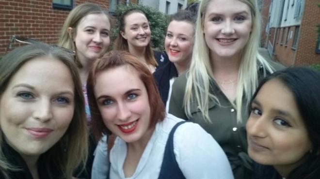 L-R: Alice, Charlotte, Rachel, me, Anna, Jess, Tanya Photo credit Alice